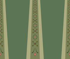 Pattern for skirt of Anna's coronation gown