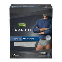 Depend Real Fit Incontinence Underwear for Men Maximum Absorbency L/XL pack of 4 >>> You can find more details by visiting the image link. (This is an affiliate link) Depends For Men, Personal Hygiene, Personal Care, Bladder Incontinence, Real Fit, Men's Briefs, Health Facts, Underwear, Mens Fitness