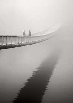 Rope bridge in the mist by gabrielle  Magnetic Camera  © 2014 Marc Pierre