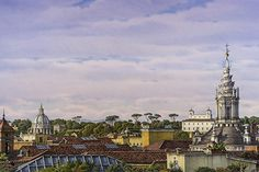 """Frederick Brosen. """"Recent Watercolors Rome & Florence"""" solo show at Hirschl & Adler Gallery, February 4th - March 12th 2016."""