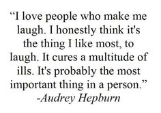 audrey hepburn quote love, laugh,