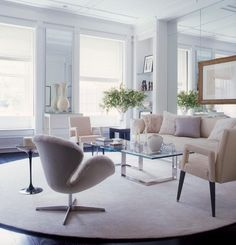 elegant neutrals in the home of gillie mendel for elle decor | photographed by william waldron