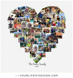 20x20 with 60 photos. ❤ CollageDesign by: http://yourlifemydesign.com/ #gift #giftideas #anniversary #homedecor #home #photography #collage #decor #decoration #walldecor #hearts