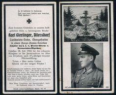 orig WK2 STERBEBILD - DEATH CARD - PANZER PIONIER INVASIONSFRONT NORMANDIE 1944