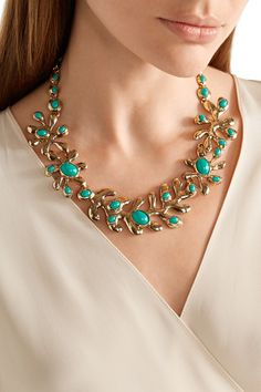 Shop on-sale Oscar de la Renta Sea Tangle gold-plated resin necklace . Browse other discount designer Jewelry & more on The Most Fashionable Fashion Outlet, THE OUTNET.COM