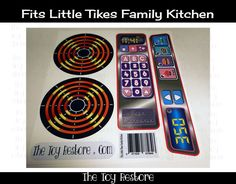 New Replacement Decals Stickers fits Little Tikes Family Kitchen Pastel Style #TheToyRestore  #Upcycle #PlayKitchen #Kitchen #LittleTikes