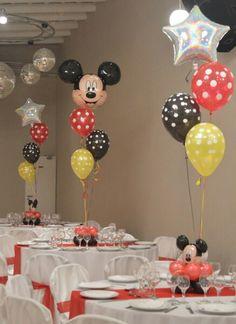Cumple globos Mickey Minnie Y Mickey Mouse, Minnie Mouse Balloons, Mickey Mouse Clubhouse Birthday Party, 2nd Birthday Party Themes, Mickey Birthday, Mickey Mouse Birthday Decorations, Mickey Mouse Baby Shower, Mickey Birthday Cakes, Mickey Mouse Balloons