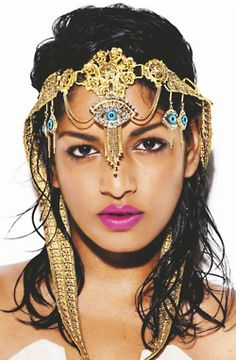 M.I.A. representing the third eye, no funny business for sure.