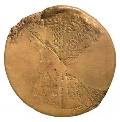 Assyrian star planisphere found in the library of the Assyrian king Ashurbanipal (reigned 668-627 BCE) at Nineveh. The function of the 13-cm diameter clay tablet, in which the principal constellations are positioned in eight sectors, is disputed but the texts and drawings appear to be astro-magical in nature. Currently located at the British Museum, London.