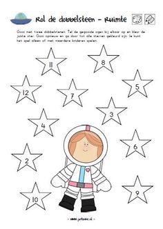 werkblad kleuters ruimte kinderboekenweek Sistema Solar, Space Activities, Activities For Kids, Toddler Crafts, Preschool Crafts, Space Classroom, Outer Space Theme, Mosaic Flower Pots, Astronauts In Space
