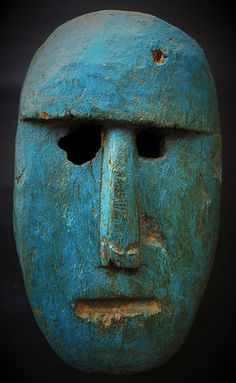 Southern Nepal male mask, part of a couple. Afrique Art, Ceramic Mask, Bird Masks, Art Premier, Bright Art, Cool Masks, Masks Art, Contemporary Sculpture, African Masks