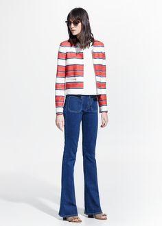 Striped jacket | mango