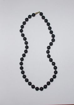 Vintage Beaded Necklace String of Black by EASTandWESTJewelry, $7.50