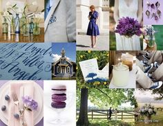 Lilac and navy. Navy is for the groomsmen shirts.
