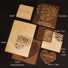 korttiin: Intricate Creations - Bespoke Laser Cut Wedding Invitations - The Intricate Collections