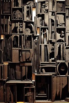 louise nevelson: Modernists used systems to create object oriented ideas.