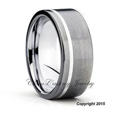 Mens Tungsten Wedding BandGunmetal Tungsten by CCJ1996 on Etsy