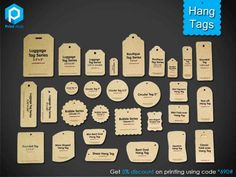 Hang Tags Promote your business or product with custom printed #hang #tags which…
