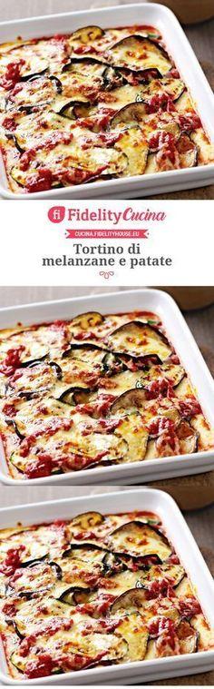 Tortino di melanzane e patate – Rezepte Vegetarian Recipes, Cooking Recipes, Healthy Recipes, Antipasto, Best Italian Recipes, Favorite Recipes, Susan Recipe, World Recipes, International Recipes