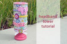 A Charmed Life: Headband Tower Tutorial