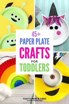 45+ Paper Plate Crafts for Toddlers & Preschoolers - Toot's Mom is Tired