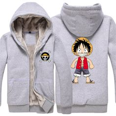 Vicwin-One One Piece Monkey·D·Luffy Logo Thick Hoodie Costume Cosplay (Size L) * Want to know more, click on the image.