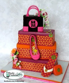 Decorating A Shoe Box Michael Kors Cake  Cakes  Pinterest  Michael Kors Michael Kors