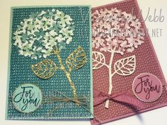 Cards with Hydrangeas and Lilacs - Thoughtful Branches bundle, available until August 31 or while stocks last. Shop now - www.vanessawebb.stampinup.net.