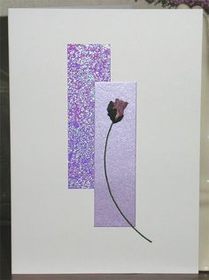 196. Purple rosebud card. #handmade #rosebuds #purple