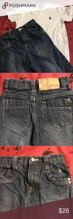 US Polo Jeans Outfit - Boys Like New                                                                          Shirt -Size 4                                                                    Jeans - Size 3T U.S. Polo Assn. Matching Sets