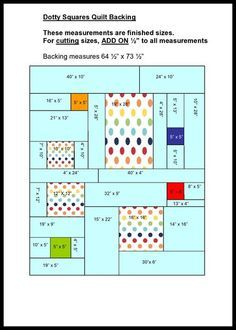 Tutorial For Back Of Quilt