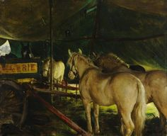 Frederick William Elwell, Welsh Ponies of Sanger's Circus, 1923 Your Paintings, Animal Paintings, Horse Paintings, Glasgow Museum, Frederick William, Welsh Pony, Horse Posters, Circus Art, Art Uk