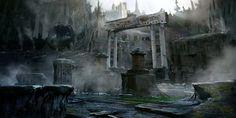 Ancient ruins, Dmitry Vishnevsky on ArtStation at https://www.artstation.com/artwork/0E5AK