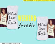 #weekendFREEBIE by www.FlirtyW.com Like & Share to Win !  #FridayFREEBIE #FREEBIE #FREEBIES  #FLIRTYWARDROBE  @flirtywardrobe  #fashion #clothing #dress #dresses #tops #celebrity #michellekeegan #girls #cute #celebrityclothing #celebrityfashion #fashionwebsite #website