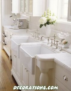 White on white...love the backsplash and countertop