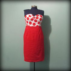 Womens VintageInspired Red and White Polka Dot by offbeatvintage, $82.00