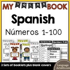 Vocabulario español números 1-100. This is a flexible vocabulary booklet to cut out and use to write and learn the numbers 1-100 in Spanish. It can be used as a dictionary of numbers 1-100 with the…