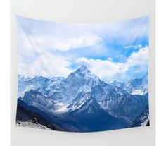 Wall Tapestry Mountain Tapestry Wall Hanging by StayWildCo on Etsy