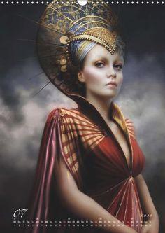 Mélanie Delon: Opale - CALVENDO Fantasy Art Women, Fantasy Romance, Fantasy Portraits, Fantasy Artwork, Digital Portrait, Portrait Art, Fantasy Inspiration, Character Inspiration, Fantasy Characters
