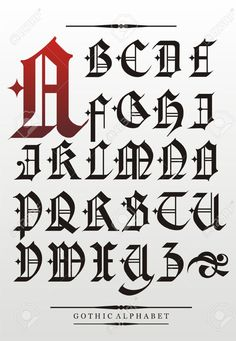 Gothic Calligraphy Stock Illustrations, Cliparts And Royalty Free ...
