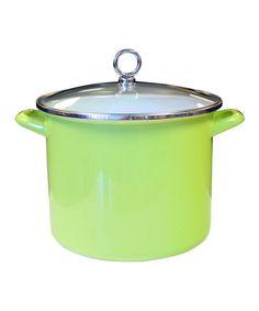 Look at this #zulilyfind! Lime Enameled Steel 8-Qt. Stockpot #zulilyfinds