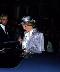 October 28, 1983: Princess Diana attending the wedding of former flatmate, Ann Bolton to Noel Hill at the St. Simon Zelotes Church, Knightsbridge.