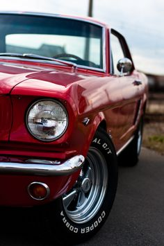 Muscle car with red candy paint? Road trip! #MuscleCars #LoveOnlineToday.com