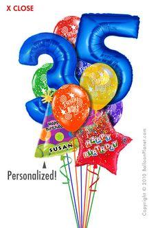 Jumbo Age Balloon Bouquet 12 Balloons