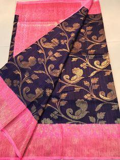 Benars dupion silk sarees Order what's app 7995736811 Dupion Silk Saree, Kora Silk Sarees, Organza Saree, Kanchipuram Saree, Elegant Fashion Wear, Trendy Fashion, Women's Fashion, South Indian Sarees, Indian Beauty Saree