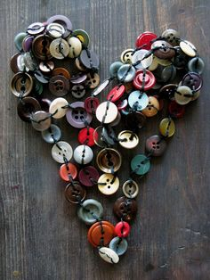 Button Heart (love this)