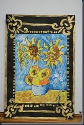 I not only love Van Gogh's sunflowers, but love, love, love the painted gold frames too.