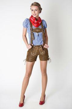 Women's Hochwertige Damen Lederhosen http://www.oktoberfesthaus.com