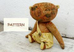 PATTERN for 15 inch artist bear diy teddy bear by HandyHappyTeddy