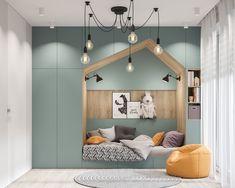 Kids Bedroom Designs, Room Design Bedroom, Baby Room Design, Bedroom Layouts, Baby Room Decor, Studio Apartment Layout, Small Studio Apartments, Apartment Ideas, Men Apartment